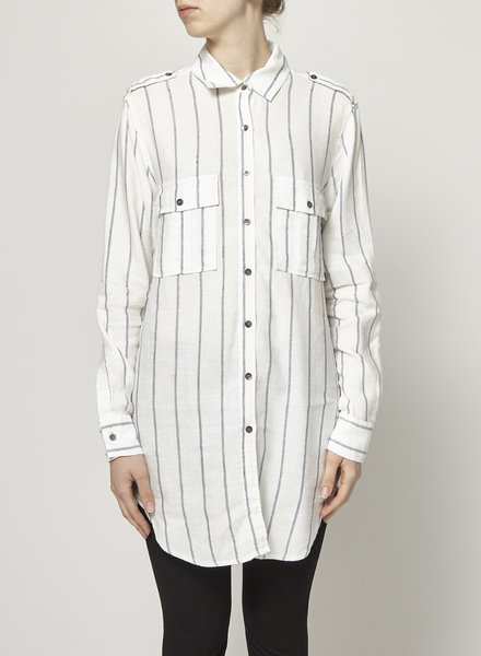 Rails OFF-WHITE STRIPED SHIRT DRESS