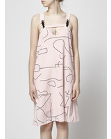 Marigold PINK DRESS BLACK GRAPHIC LINES