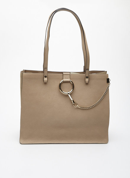 Chloé 'MEDIUM FAYE' BEIGE LEATHER TOTE