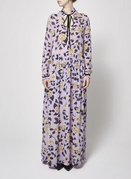Ganni ON SALE - FLORAL-PRINT MAXI DRESS