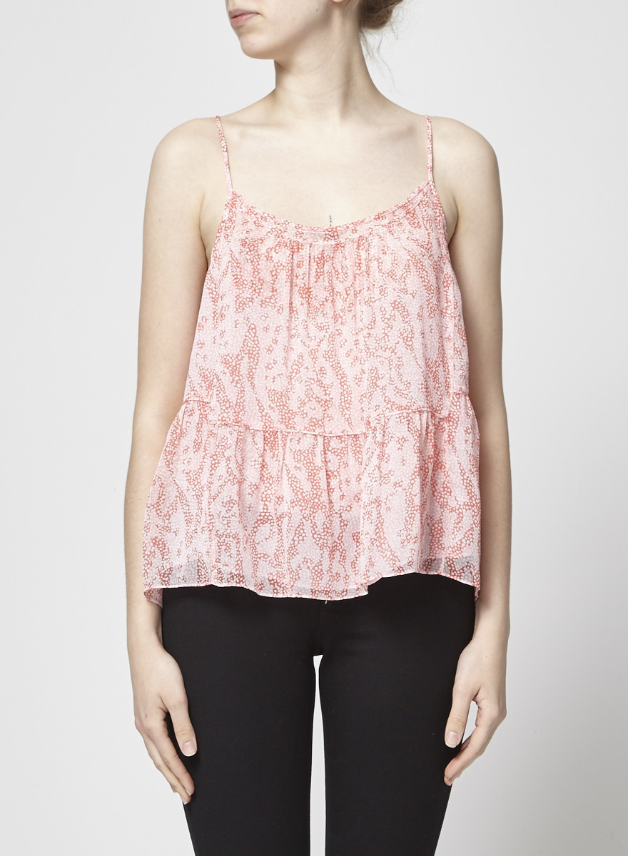 Diane von Furstenberg See Through Pink Silk Cami