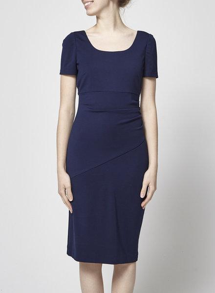 Diane von Furstenberg DRAPED NAVY  BLUE DRESS