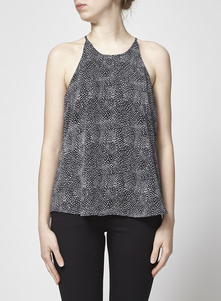 Joie BLACK AND WHITE SILK CAMI