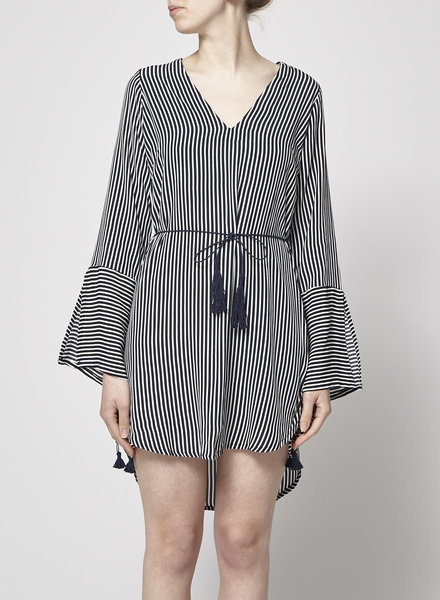 Faithfull The Brand BLUE & WHITE STRIPED DRESS - WITH TAG