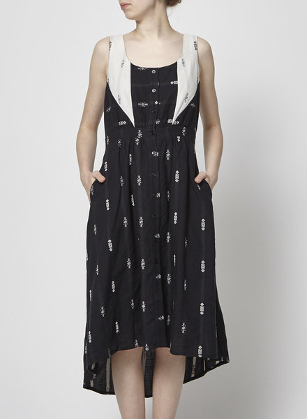 Eve Gravel AZTEC PRINT BLACK AND WHITE DRESS