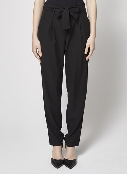 My Sunday Morning PANTALON LONG NOIR AVEC CEINTURE