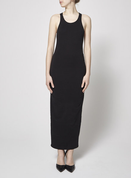 Michael Stars BLACK JERSEY COTTON LONG DRESS