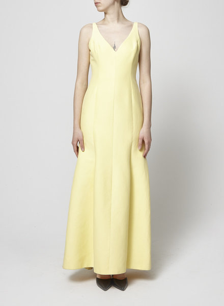 Halston Heritage YELLOW EVENING DRESS