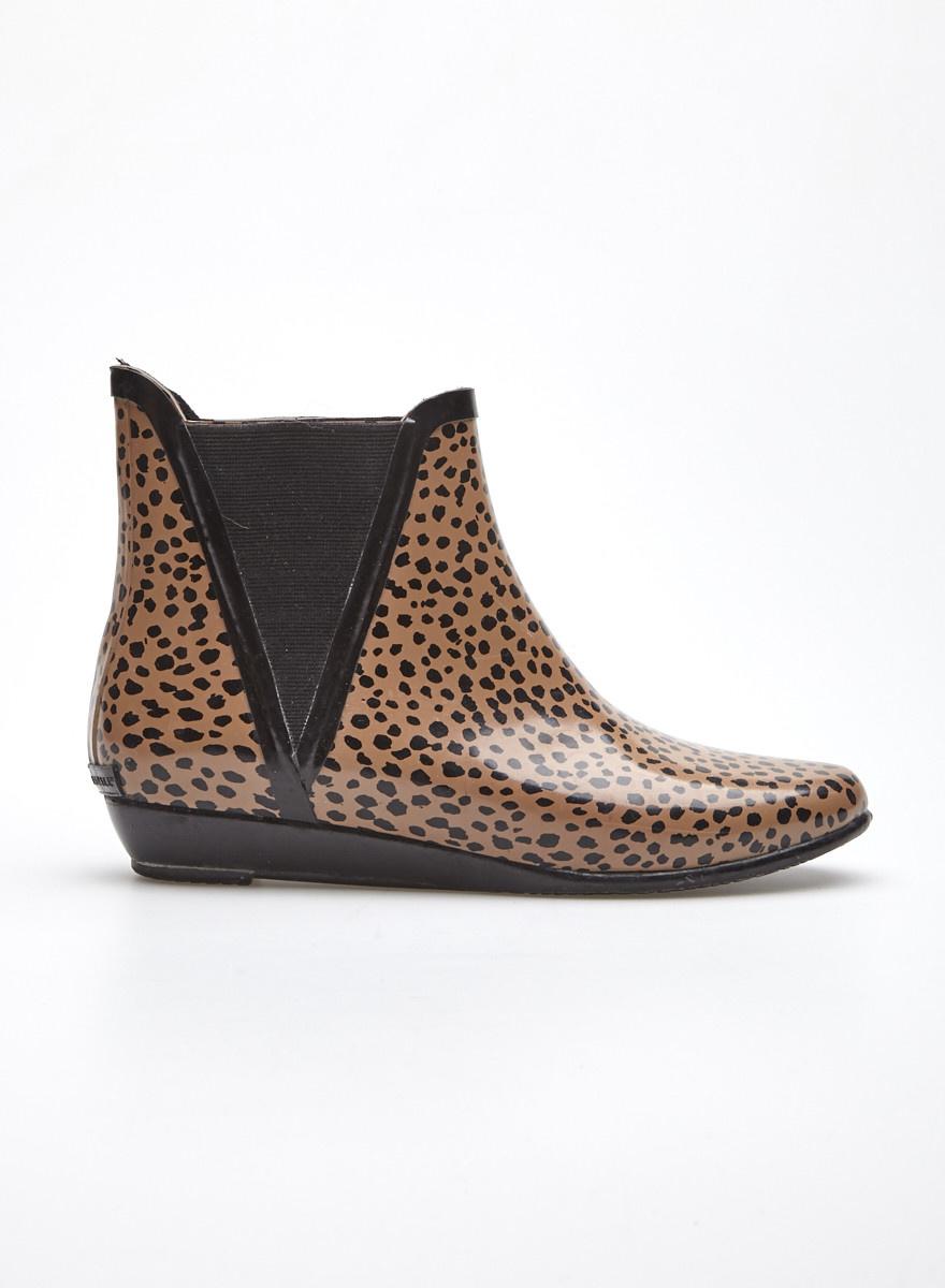 haute couture fd432 692ca Bottes de pluie courtes marron à pois noirs - Loeffler Randall