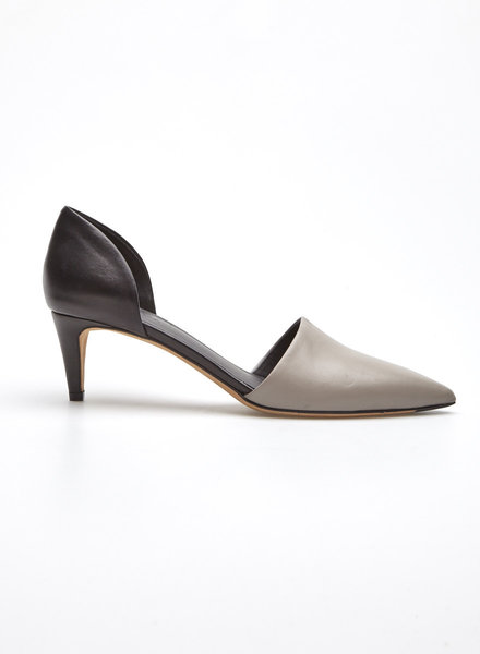 Vince GRAY AND BLACK LEATHER PUMPS