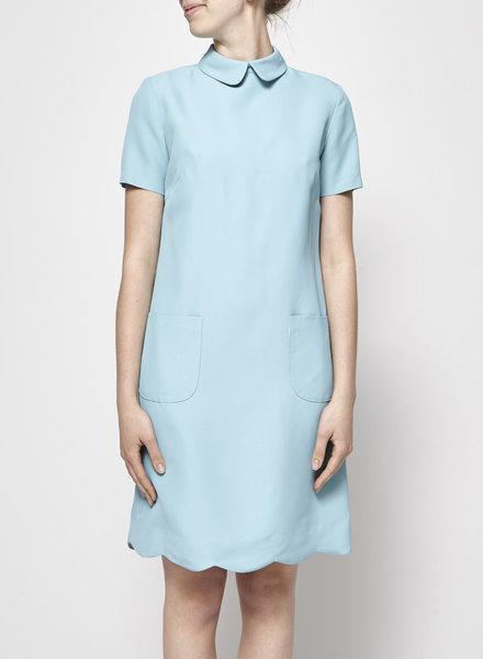 Éditions de Robes BABY BLUE PETER PAN COLLAR SCALLOP DRESS