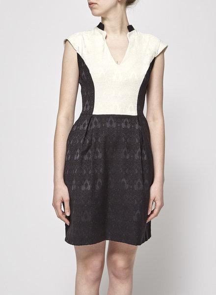 Jennifer Glasgow BLACK AND WHITE JACQUARD DRESS