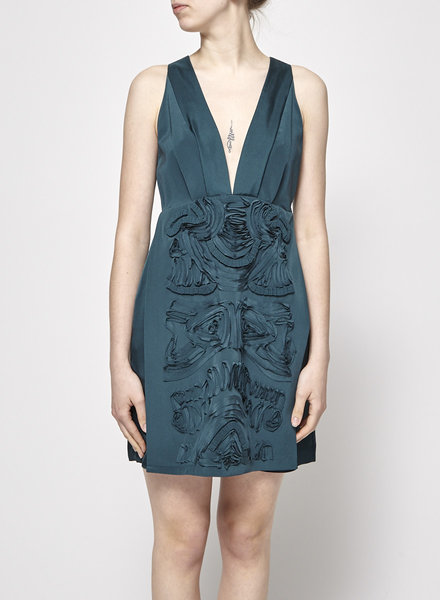Tibi TEAL SILK DRESS - WITH TAG