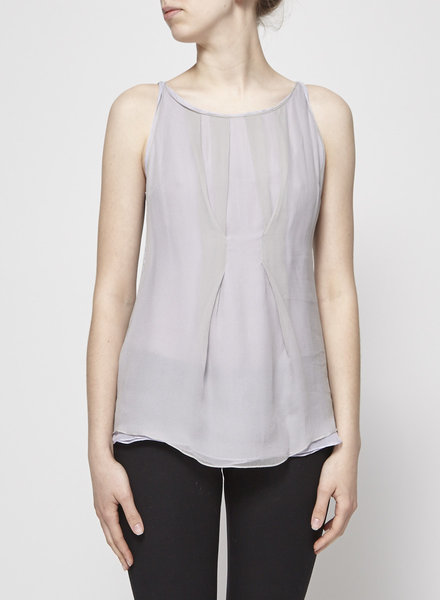 Brunello Cucinelli TWO-TONE SILK AND COTTON TOP
