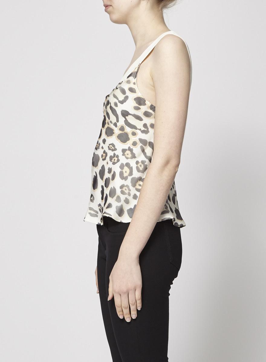Giorgio Armani  On Sale - Animal-Print Silk Shirt