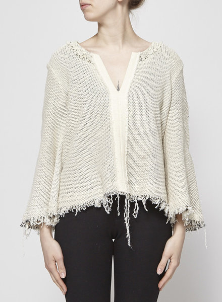 Iro KNITTED OFF-WHITE TOP