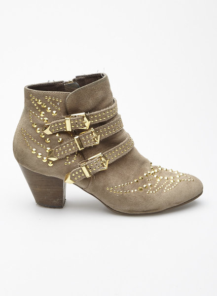 ASH STUDDED TAUPE SUEDE BOOTIES