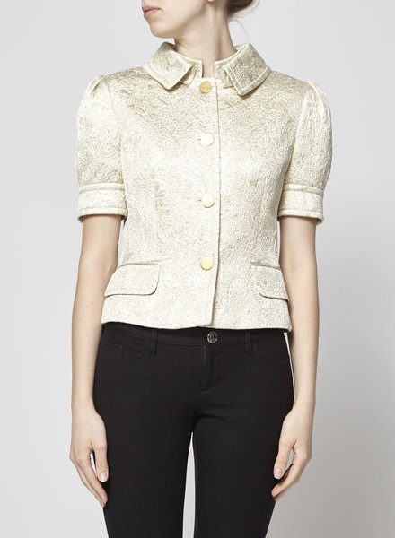 Dolce & Gabbana METALLIC GOLD TEXTURED JACKET
