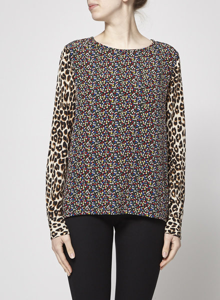 Equipment MIX-PRINT SILK BLOUSE