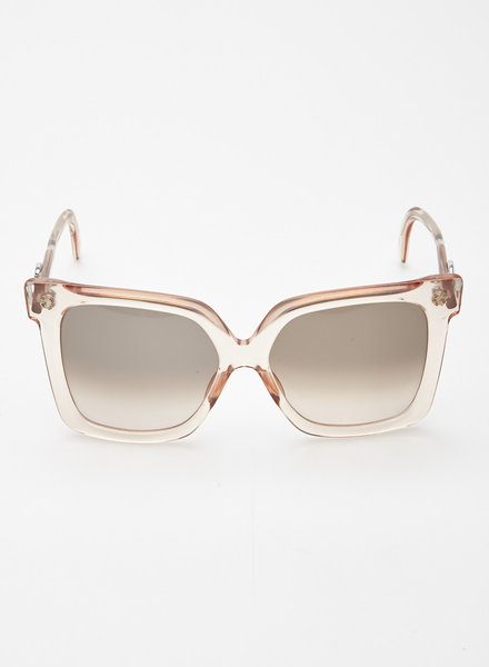 Silhouette PINK-TINTED CLEAR ACETATE SUNGLASSES