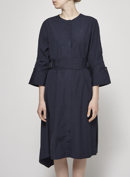3.1 Phillip Lim NAVY SHIRT DRESS WITH BELT OPEN ON THE BACK
