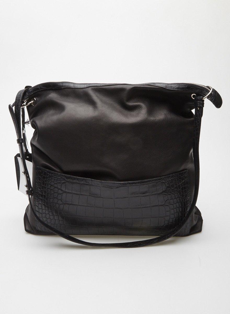 66d51c2dff Grand sac à main en cuir noir - Neuf - Little Liffner - Deuxième édition
