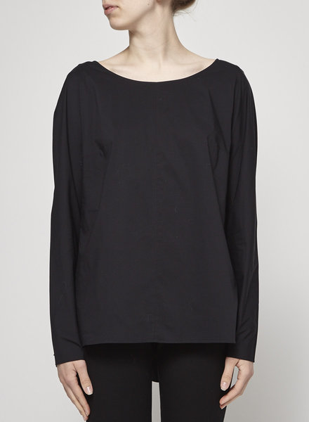 COS BLACK TOP PLEATED AT THE BACK