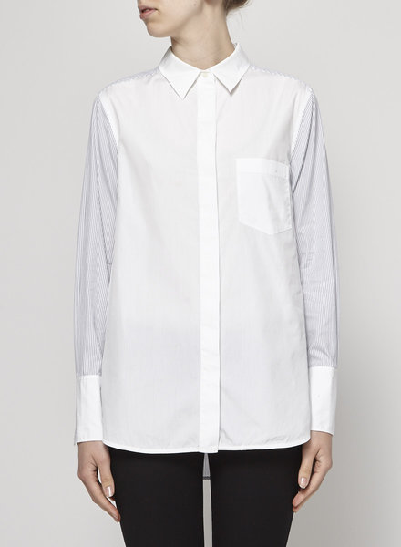 Vince STRIPED AND WHITE COTTON SHIRT