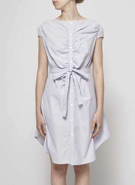 Y-3 by Yohji Yamamoto LAVENDER STRIPED SHIRT DRESS