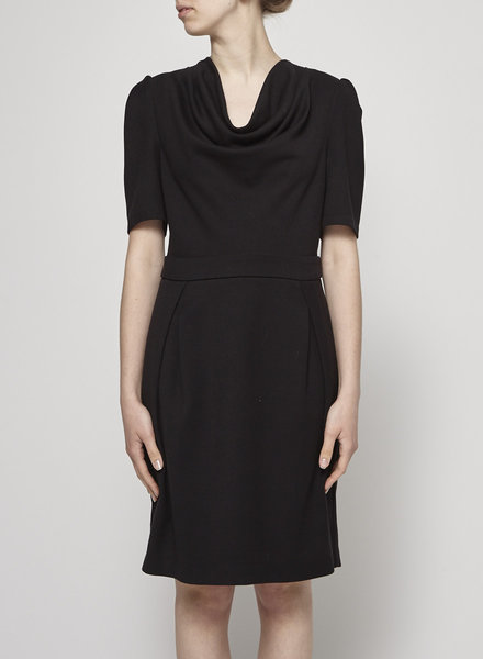 Bodybag by Jude BLACK FITTED COWL NECK DRESS