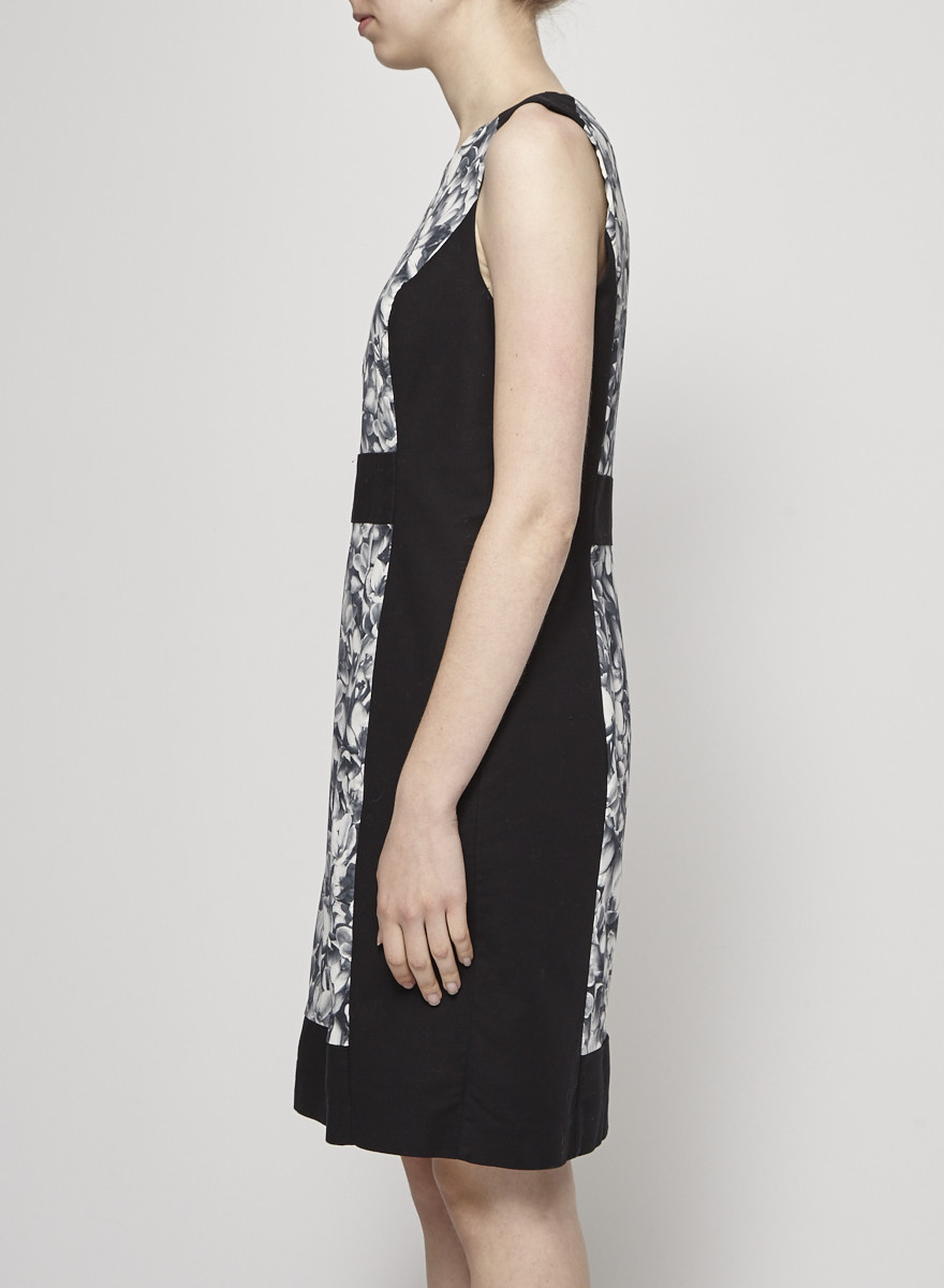 Michael Kors Structured black dress with floral print
