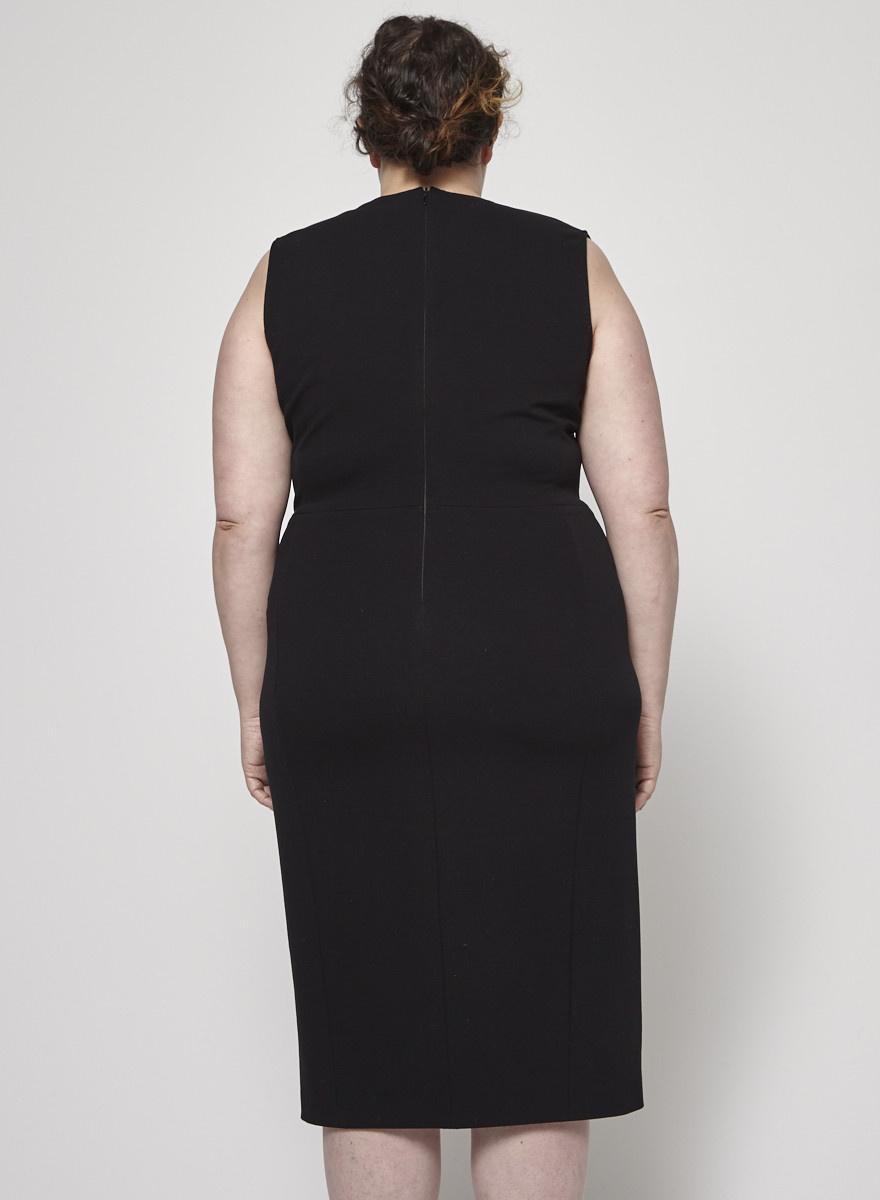 Marina Rinaldi Black Sleeveless Wrap Dress