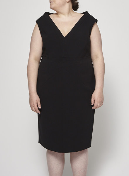 Marina Rinaldi BLACK STRUCTURED DRESS