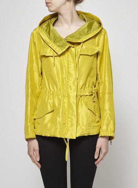Dries Van Noten MANTEAU JAUNE SATINÉ STYLE IMPEPRMÉABLE