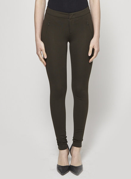 Vince FOREST GREEN SKINNY PANTS