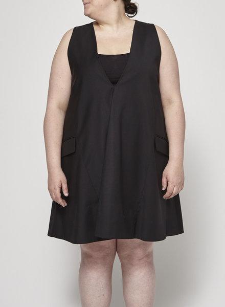 COS OVERSIZED SLEEVELESS BLACK DRESS