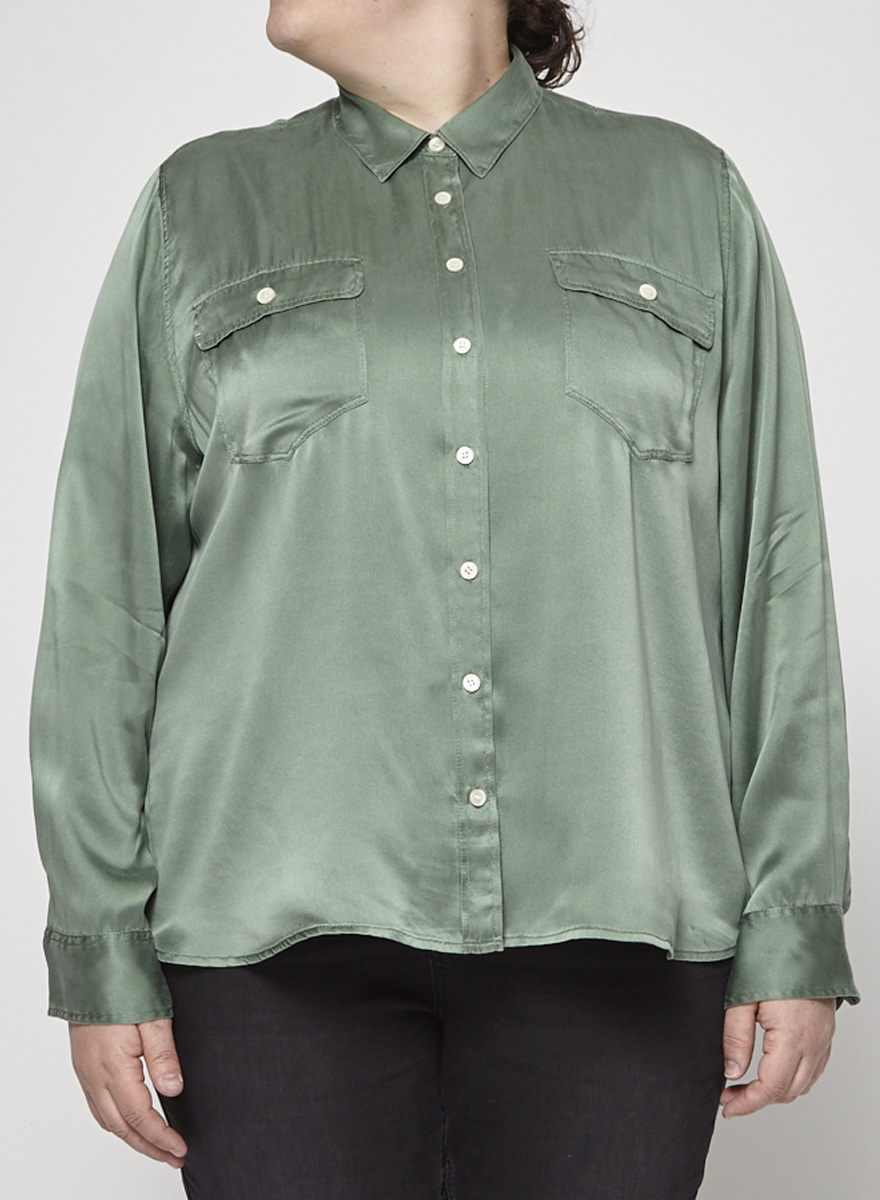 J.Crew Silk green shirt