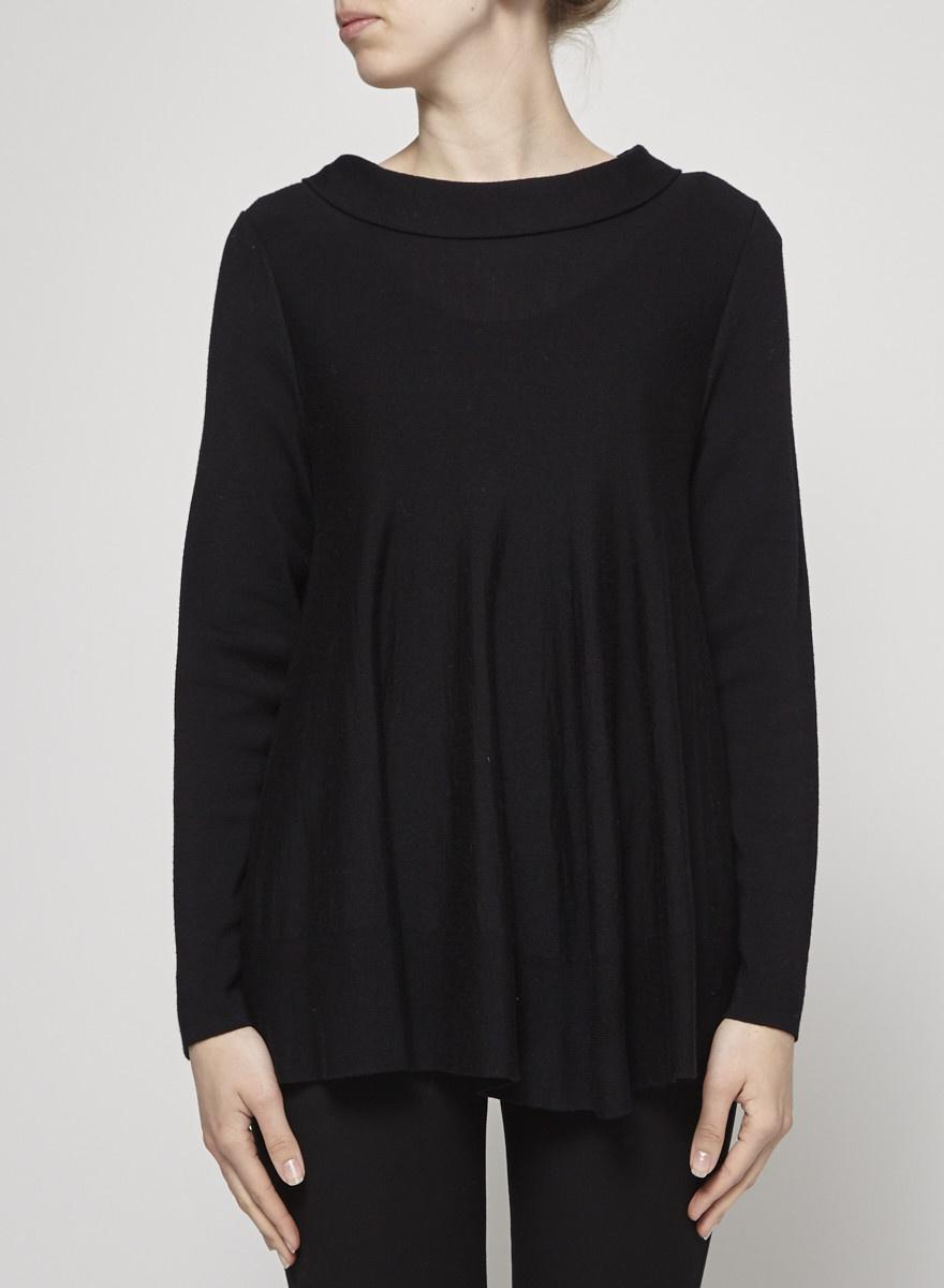 b7d0693d7f30 Loose Black Woolen Sweater - COS - DEUXIEME EDITION