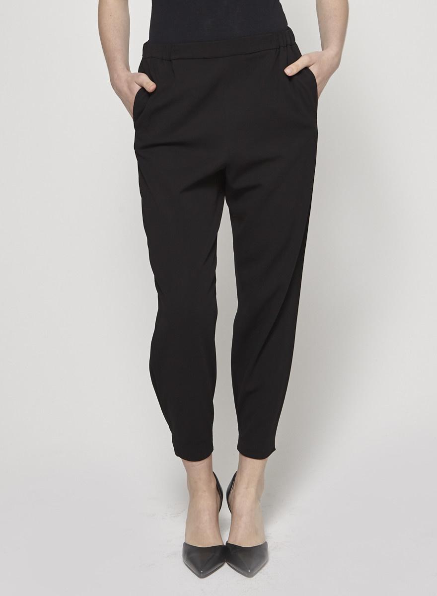 Noir Taille Taille Noir Pantalon Pantalon Cos Pantalon Élastique Noir Cos Élastique Iy6mYbfv7g