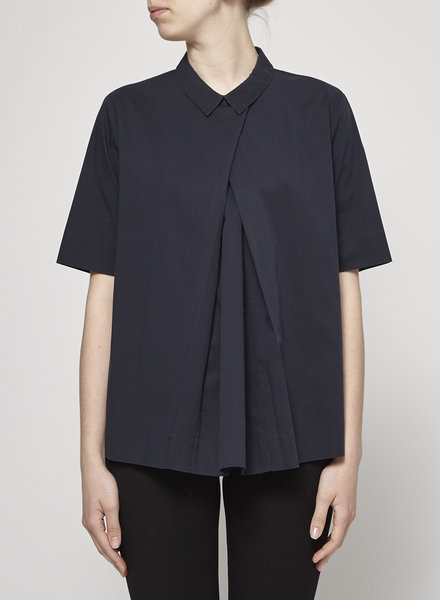 COS NAVY LOOSE BLOUSE