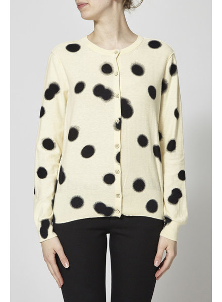 Marc by Marc Jacobs BEIGE CARDIGAN WITH BIG BLACK DOTS