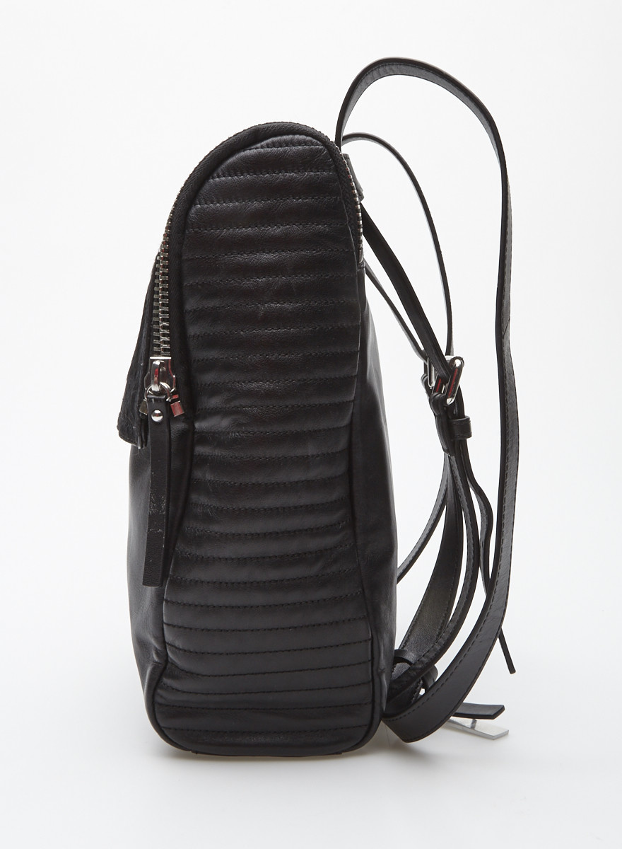 Vince Camuto Black Leather and Foal Backpack - New