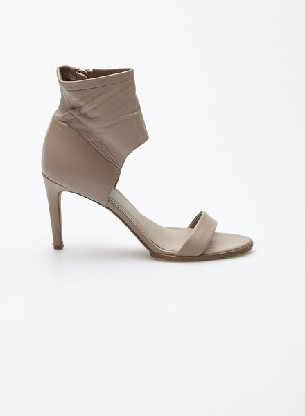 Vince TAUPE LEATHER HIGH-HEEL SANDALS
