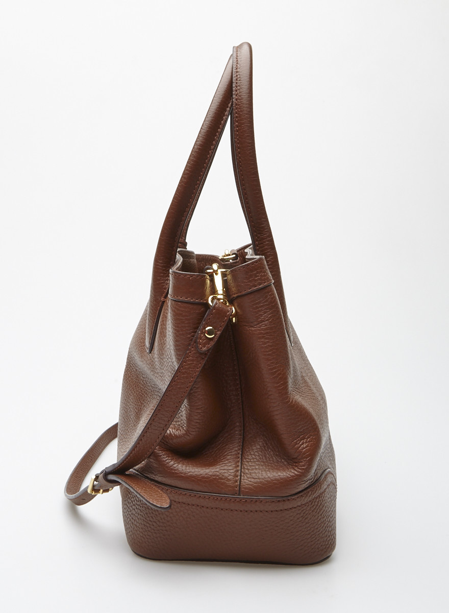 Lauren Ralph Lauren Brown Leather Handbag