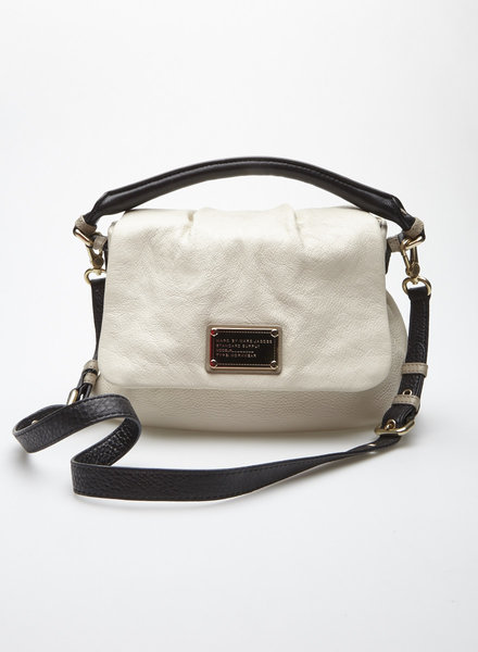 Marc by Marc Jacobs OFF-WHITE AND BLACK LEATHER HANDBAG