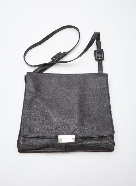 Sarah Pacini BLACK LEATHER SHOULDER BAG