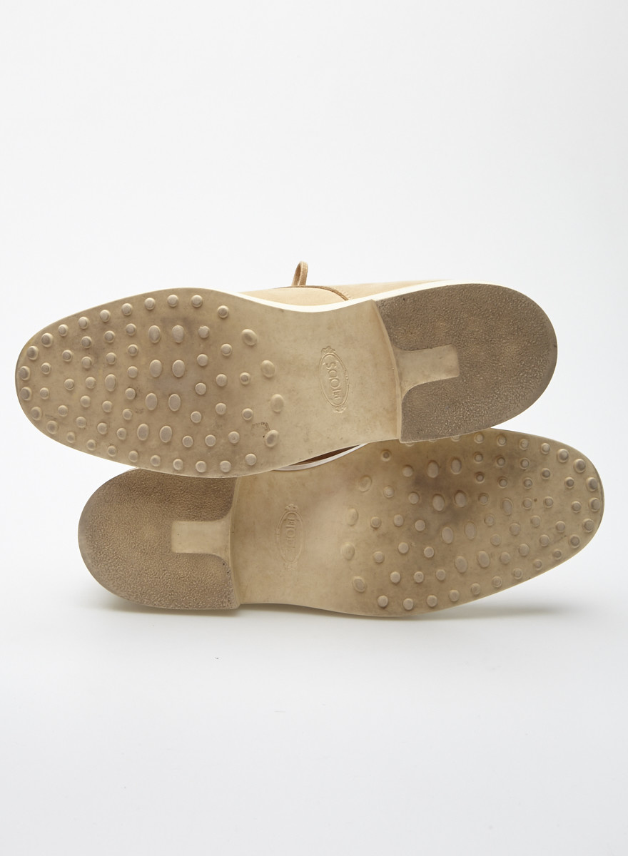 TOD'S Chaussures beige en cuir