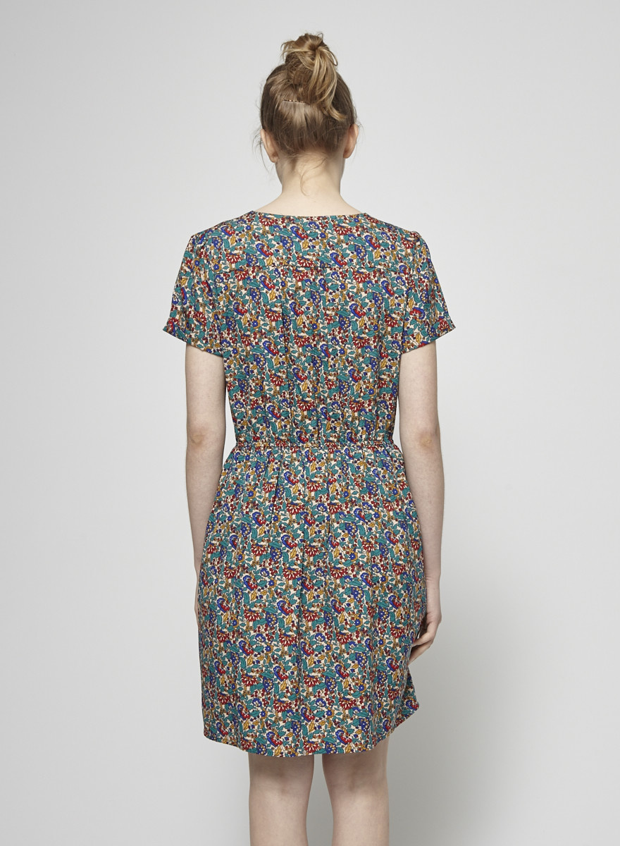 Compania Fantastica Floral-Print Wrap Dress