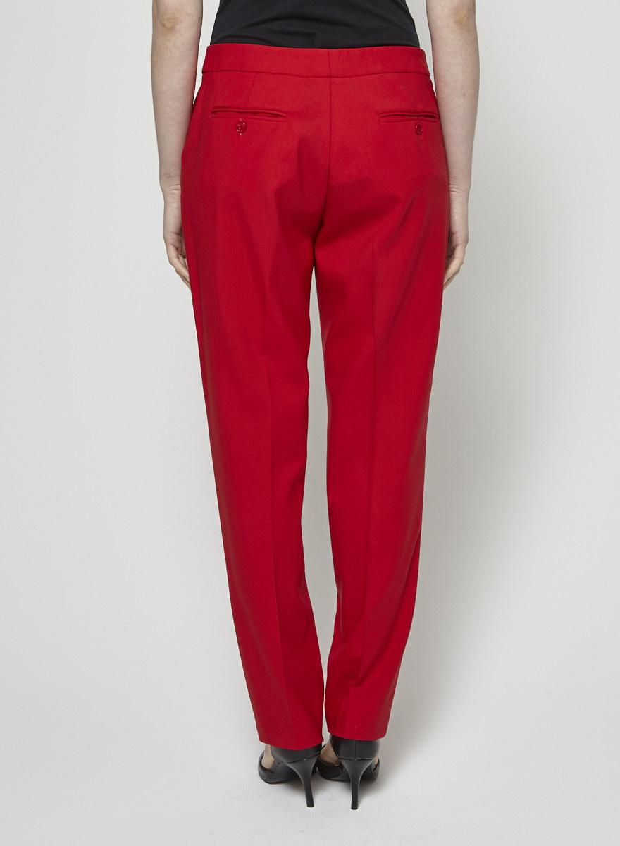 Michael Kors Pantalon rouge à jambes droites