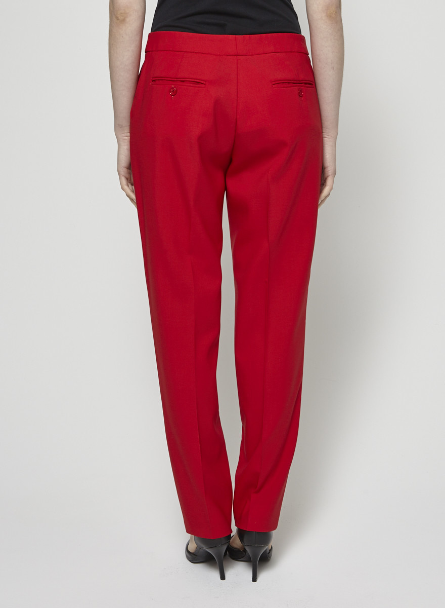 Michael Kors Red Straight-Leg Pants